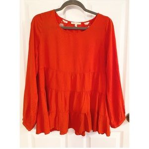 Skies Are Blue Orange Tiered Top Small